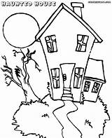 Haunted Coloring Pages Print Coloringway sketch template