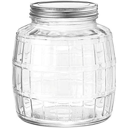 anchor hocking  gallon barrel glass jar glass jars