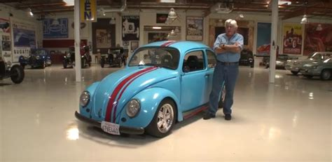 jay leno drives  rotary powered volkswagen beetle