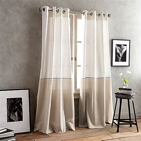 dkny curtains drapes dkny color band grommet top window curtain panel bed