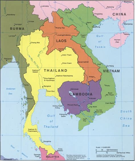 cambodia southeast asia map