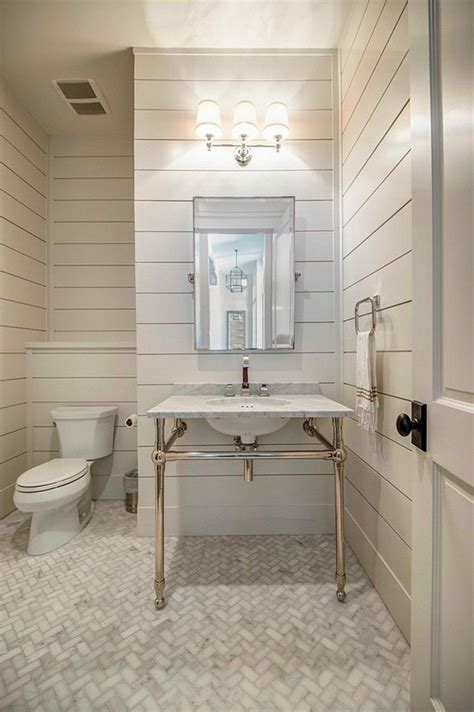 Tongue and groove bathroom. Tongue and groove wall