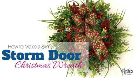 storm door christmas wreath youtube