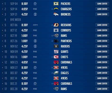 seattle seahawks  schedule released