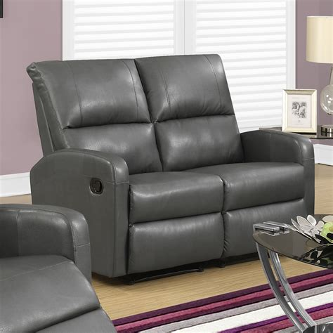 Gray Leather Loveseat by Leather Loveseat In Grey Shop Modern Leather Sofa