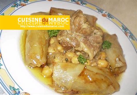 cuisine marocaine tajine agneau choux farci à la viande hachée