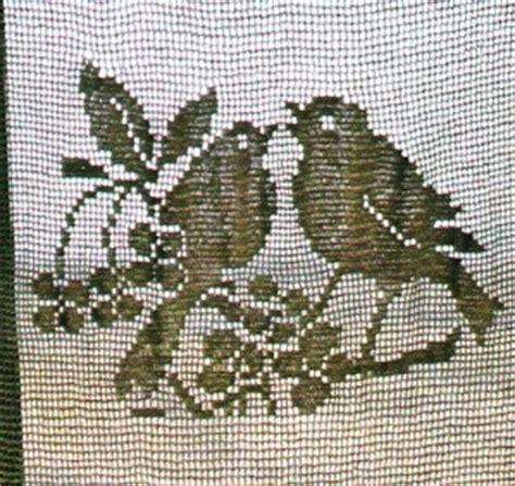 Modã Le De Rideau Au Crochet D by Rideau Au Crochet Quot Oiseaux Dans Le Cerisier Quot Tutoriel