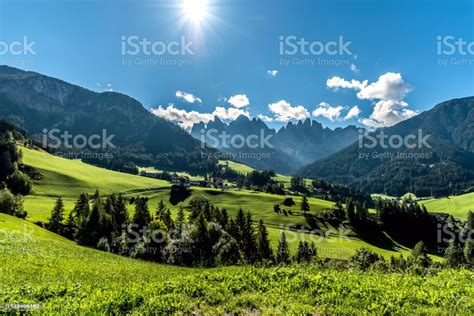 Val Di Funes Dolomites South Tyrol Italy Stock Photo