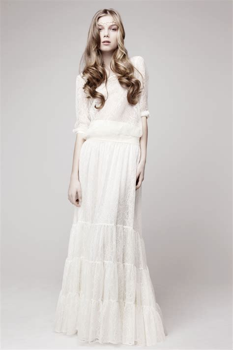 simple wedding dress bohemian bride onewedcom
