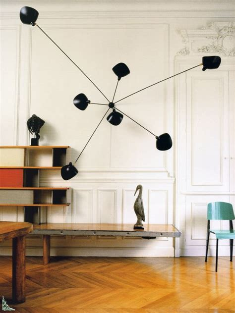 perriand prouve and serge mouille interiors pinterest
