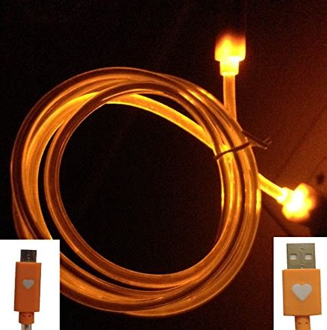 light up cell phone cablesfrless tm new dual led light up illuminating 3ft