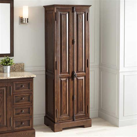 vintage linen cabinet signature hardware chelles bathroom linen storage cabinet 3240