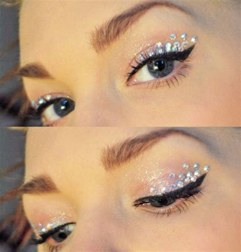 eye makeup diamontes perfect sparkle eye shadow   glitter silver naked eyeshadow
