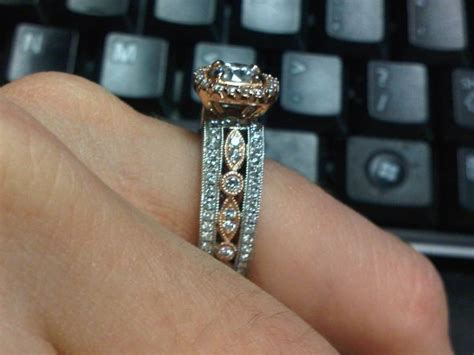 my white and gold engagement ring