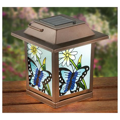 2 stained glass look solar lanterns 627577 solar