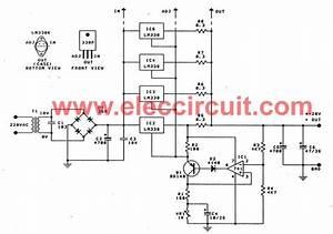 High Current Adjustable Voltage Regulator Circuit  0