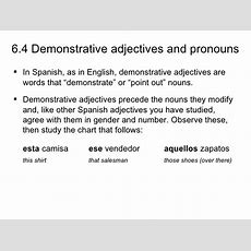 64 Demonstrative Adjectives And Pronouns