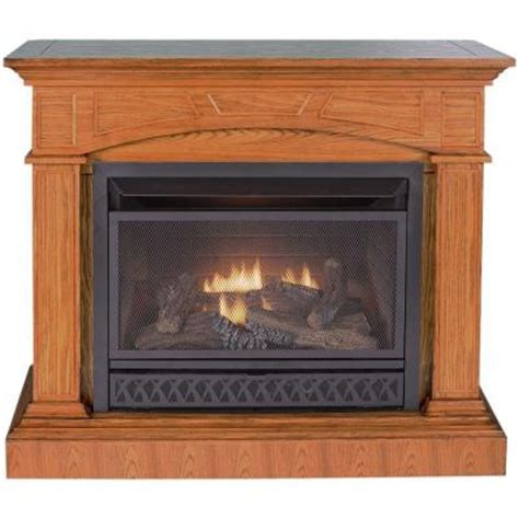 home depot gas fireplace procom 44 in convertible vent free propane gas fireplace