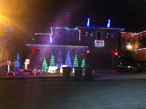 best display of lights in homes in talega 2012
