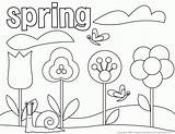 Coloring Pages Springtime Popular sketch template