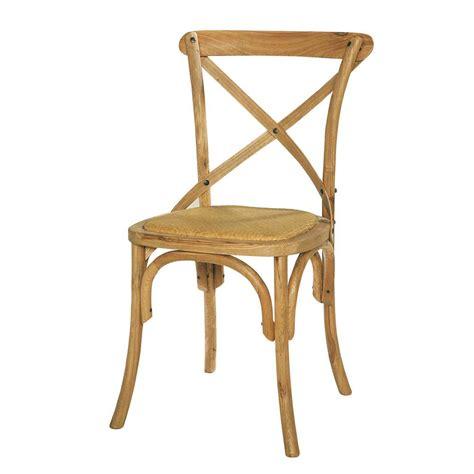 chaise rotin maison du monde chaise en rotin naturel et chêne massif tradition maisons du monde