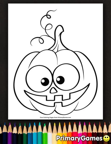 cute jack  lantern coloring page printable halloween