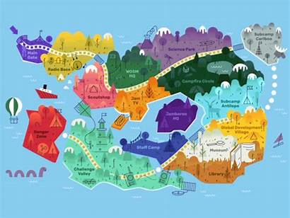Map Jota Joti Dribbble Cool