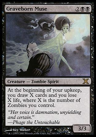Graveborn Deck List Visual by Mono Black Zombies Modern Archives Modern The