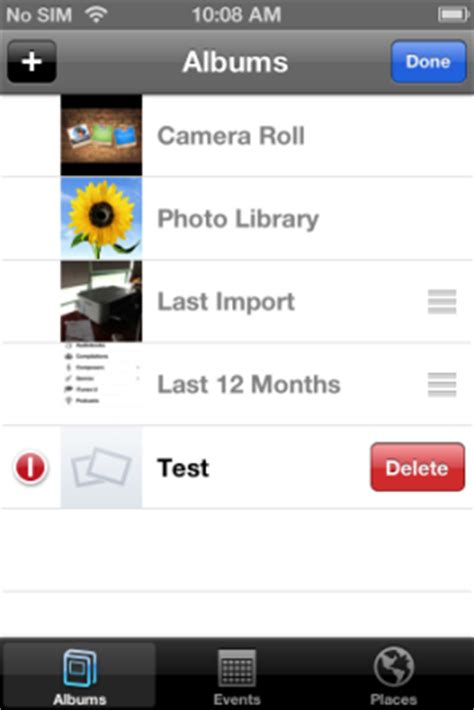 how to remove albums from iphone delete iphone photo album