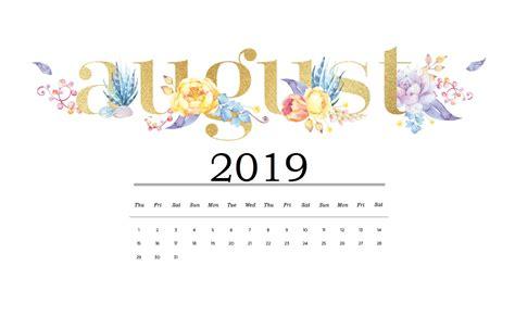 august  hd calendar wallpaper calendar