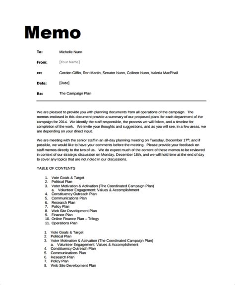 Memo Template by Sle Memo Format 26 Documents In Pdf Word