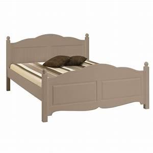 Lit 2 Places But : lit taupe 2 places 140 x 190 charme beaux meubles pas chers ~ Teatrodelosmanantiales.com Idées de Décoration