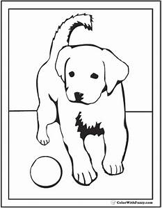 Realistic Lab Dog Coloring Pages – Color Bros