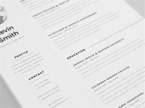 Free Clean And Minimal Resume Template-creativebooster