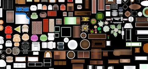 furniture colored blocks  autocad  cad