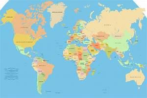 Carte Du Monde Metallique : carte du monde pays ~ Teatrodelosmanantiales.com Idées de Décoration