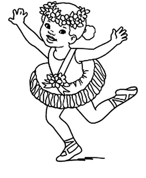 ballerina wearing flower crown coloring page color luna
