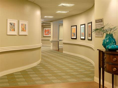 Home Design Ideas For Seniors by Curved Corridors Wesley Pines Retirement Community