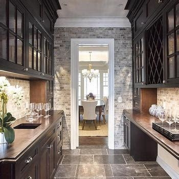 long butlers pantry transitional kitchen