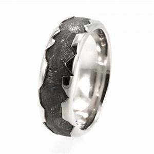 cool meteorite platinum ring platinum wedding band for With mens wedding ring meteorite