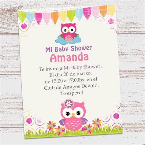 buho nena invitacion para imprimir buhos invitaciones para