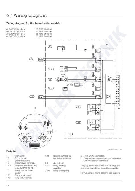 eberspacher hydronic wiring diagram free playapk co