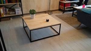 Table Basse Industrielle Carrée : table de salon style industriel ~ Teatrodelosmanantiales.com Idées de Décoration