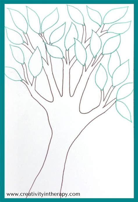 tree  strength creativity  therapy art therapy