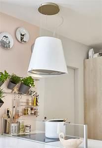 Hotte Pour Ilot Central : une hotte blanche arrondie pour lot central leroy merlin ~ Melissatoandfro.com Idées de Décoration