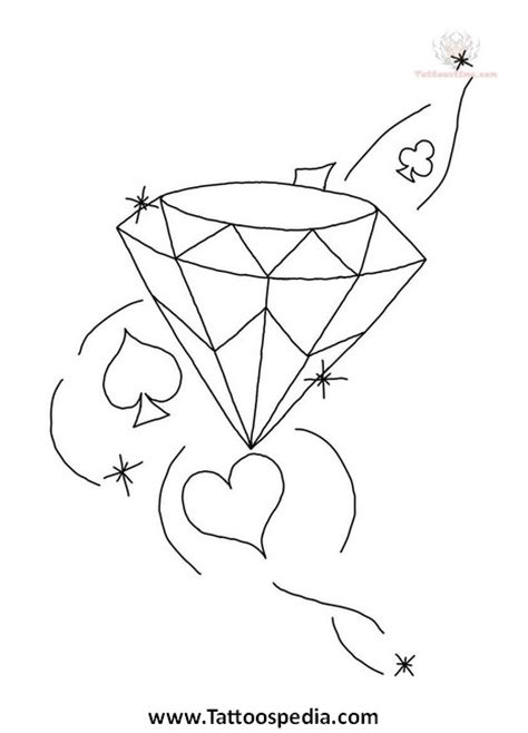 Diamond Tattoo Design Drawings Sketch Coloring Page