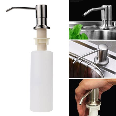 built in soap dispenser for kitchen sink large stainless steel built in kitchen sink dish 9780