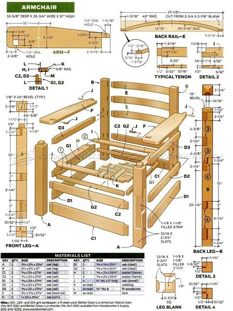 armchair plans woodarchivist