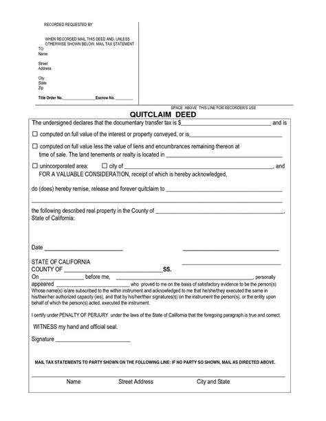 quit claim form california free quit claim deed form california resume exles