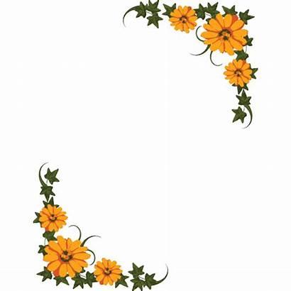 Flower Yellow Clipart Frame Tiny Border
